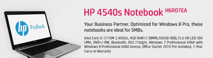 HP 4540s Notebook H6R07EA