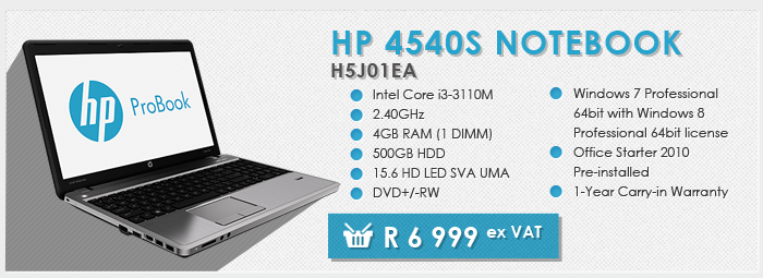 HP 4540s notebook